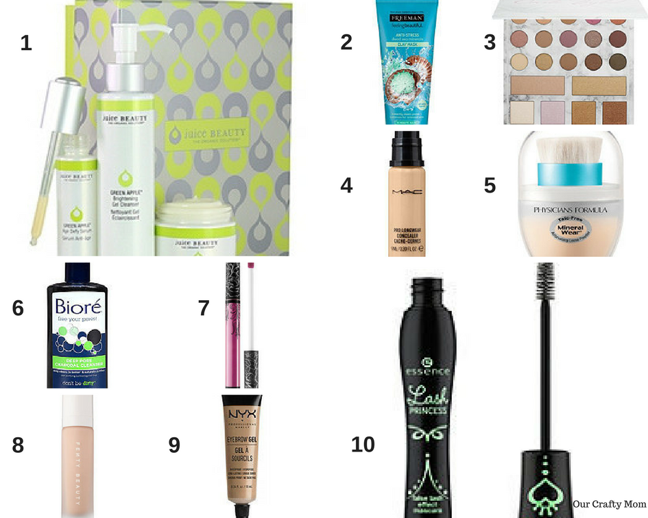 Top 10 Must Haves For Skin Care And Makeup - Our Crafty Mom #juicebeauty #skincare #makeup #giftguide