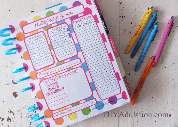 How To Get Organized Our Crafty Mom Free Printables