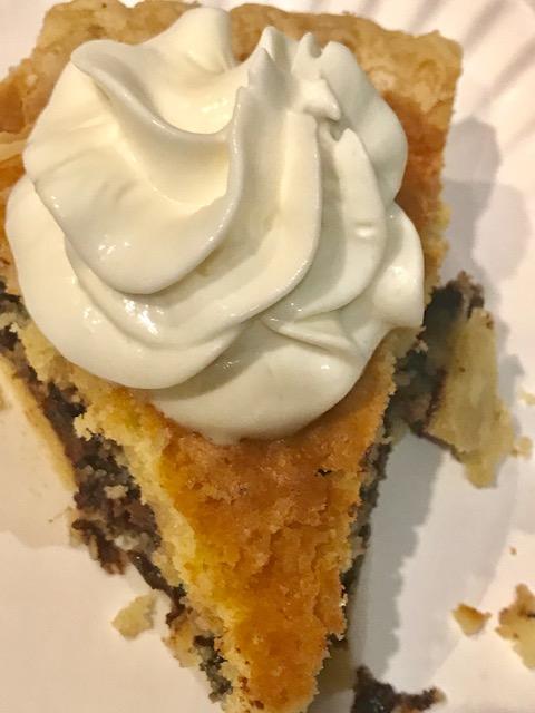 slice of tollhouse cookie pie