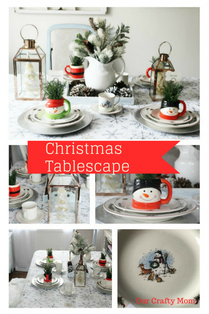 Create A Cozy Christmas Tablescape Our Crafty Mom #christmastablescape #christmas #tablescape