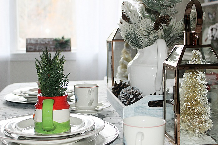Create A Cozy Christmas Tablescape Our Crafty Mom #christmastablescape #christmas