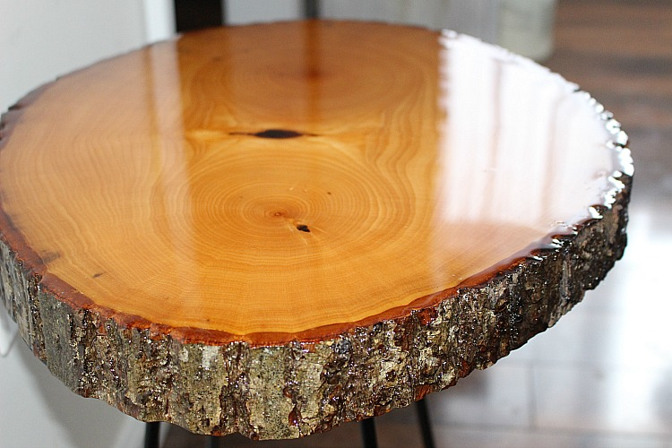 Diy Resin Wood Slice Side Table Our Crafty Mom