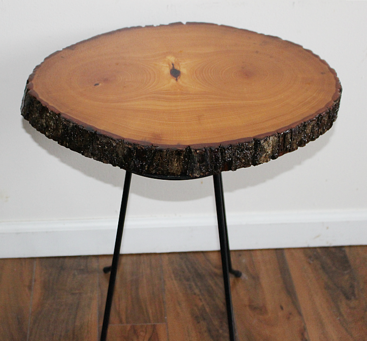 DIY Wood Slice Table Our Crafty Mom