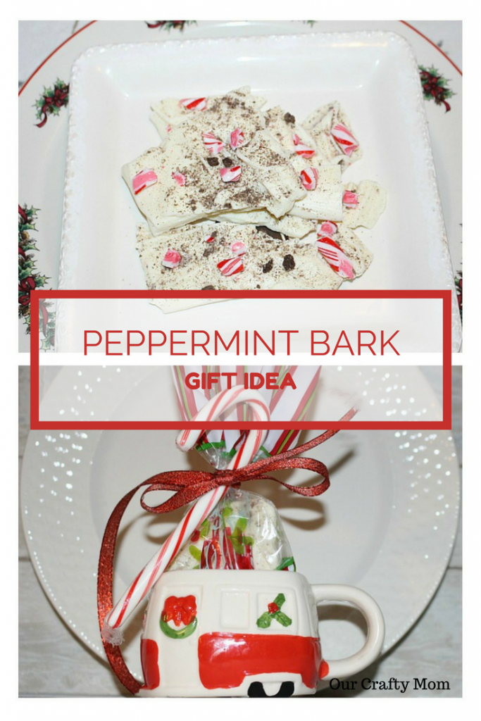 Easy Peppermint Bark Gift Idea Our Crafty Mom #peppermintbark #candybark
