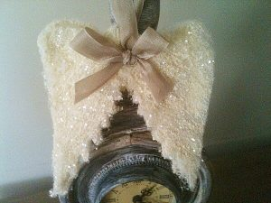 How To Make Angel Wings Ornaments Our Crafty Mom #handmadeornaments #christmas #angelwings #DIY