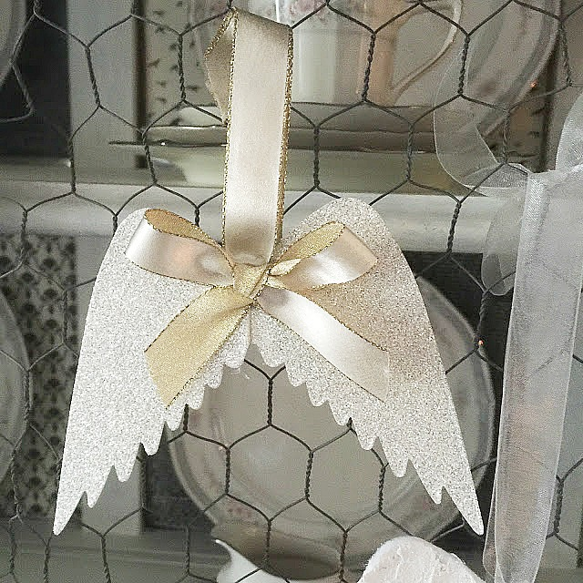 How To Make Angel Wings Ornaments Our Crafty Mom #handmadeornaments #DIY #angelwings