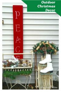 Outdoor Christmas Front Entry Ideas Our Crafty Mom #12daysofchristmas