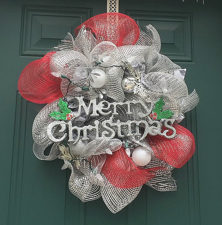 Outdoor Christmas Front Entry