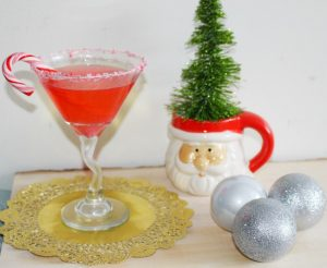 Peppermint Martini – Perfect For The Holidays! - Our Crafty Mom #holidaymartini #christmas martini #virtualcocktailparty