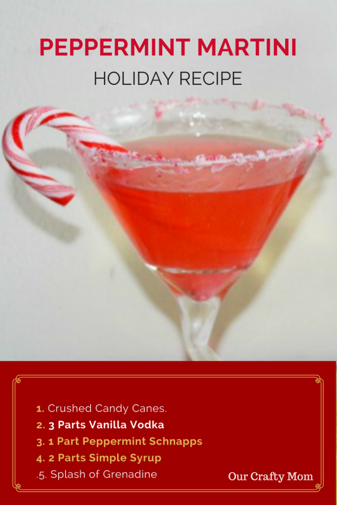 Peppermint Martini - Perfect For The Holidays! - Our Crafty Mom #virtualcocktailparty #holidaymartini #holidaycocktail
