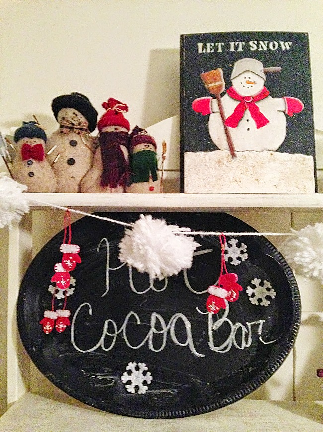 Quick and Easy hot cocoa bar our crafty mom