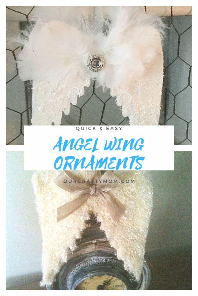 diy angel wings ornaments