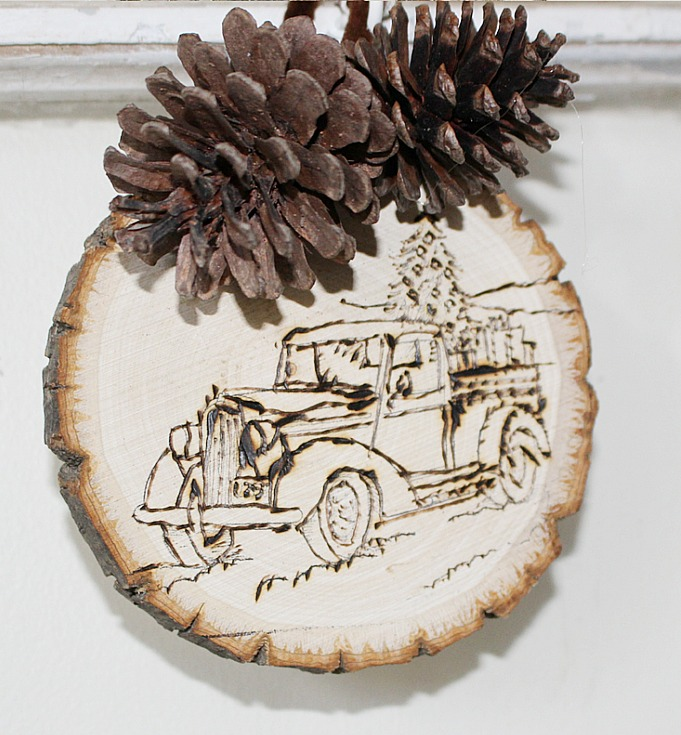 DIY Farmhouse Style Christmas Ornament Our Crafty Mom