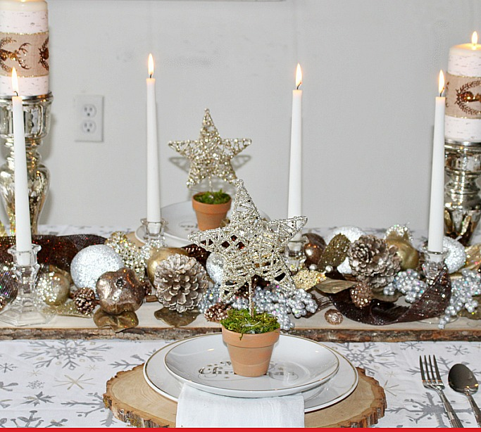 Christmas and Winter Table Setting Ideas Our Crafty Mom