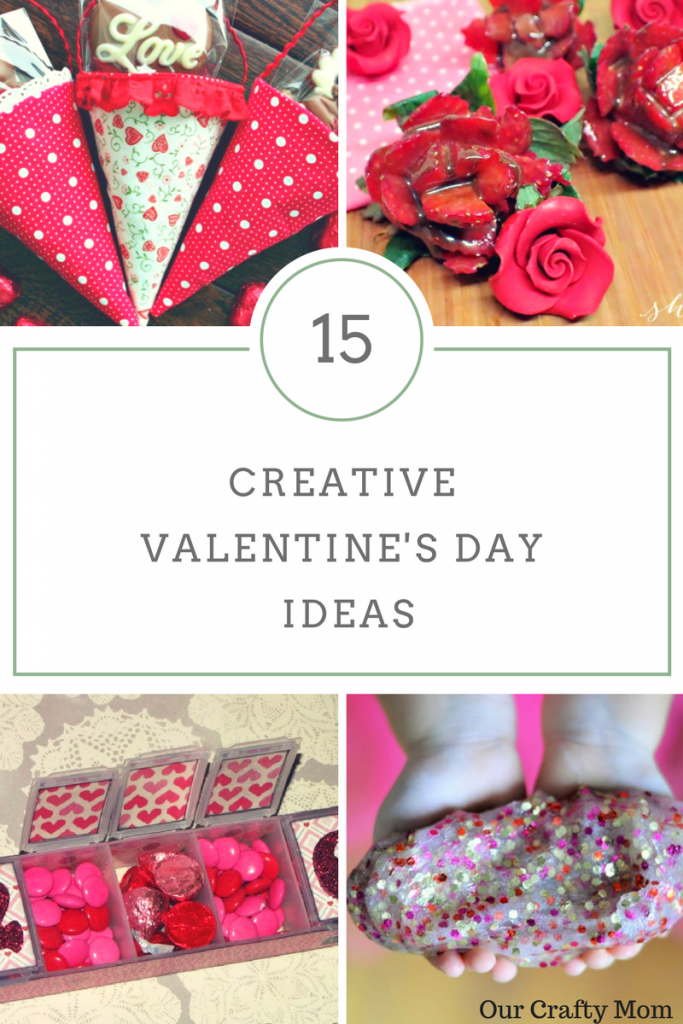 15 Creative Valentine's Day Ideas and MM #188 Our Crafty Mom #valentinesday #diyvalentinesday