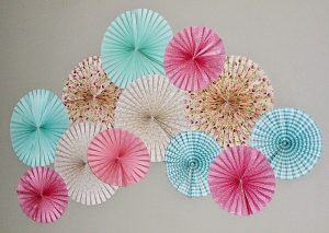 Create A Beautiful Feature Wall With Paper Fans
