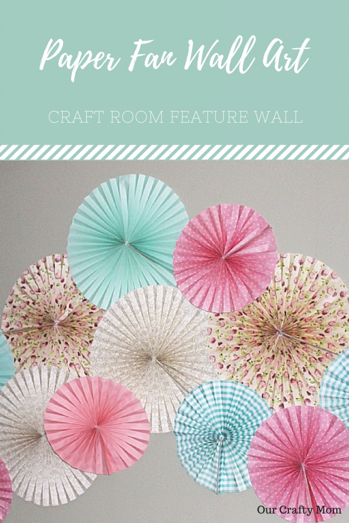 Create A Feature Wall With Paper Fans Our Crafty Mom