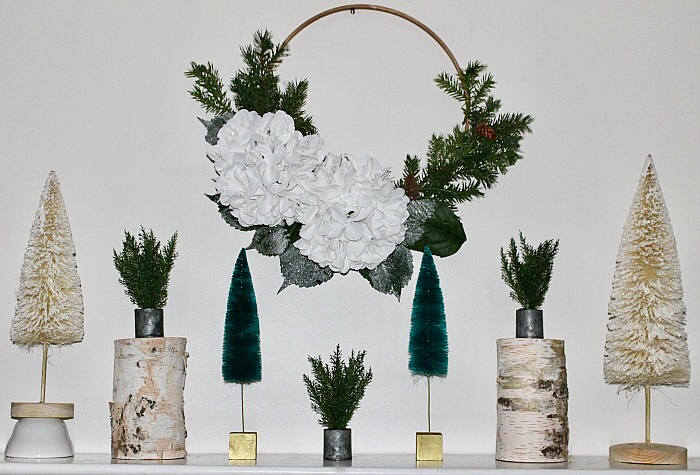 Decorate Your Mantel For Winter - Our Crafty Mom #wintermantel #winterdecor