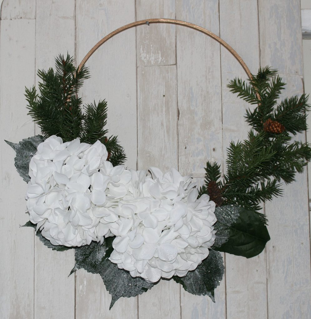 DIY Farmhouse Style Winter Wreath by Our Crafty Mom