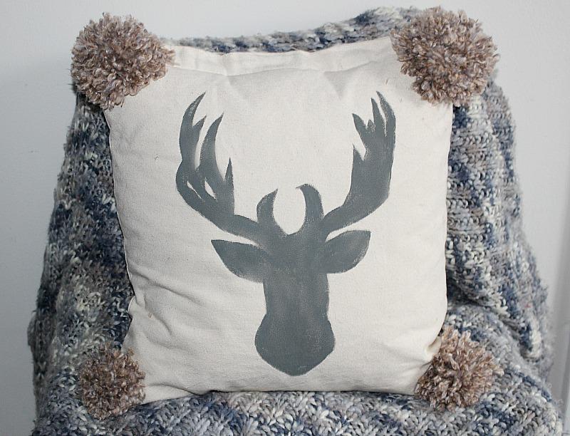 DIY Pom Pom Pillow Our Crafty Mom #pompompillow #nosewpillow #pompommaker