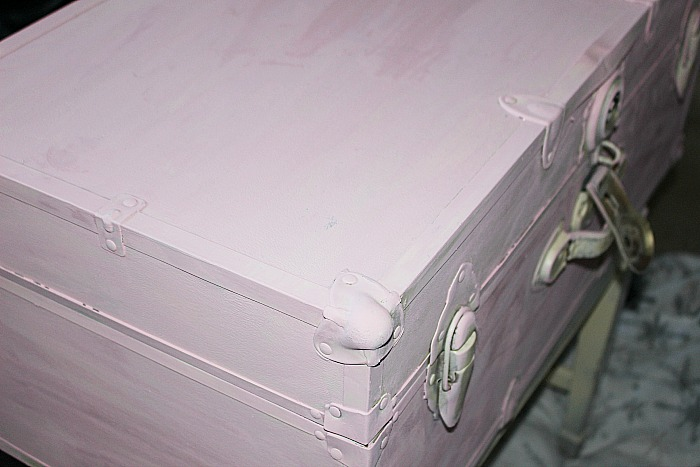 Easily Transform A Steamer Trunk With Beautiful Metallic Paint Our Crafty Mom #steamertrunk