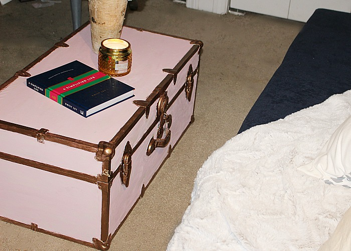Easily Transform A Steamer Trunk With Beautiful Metallic Paint #steamertrunk Our Crafty Mom