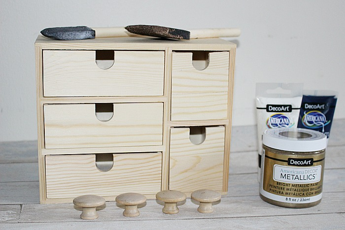 IKEA Moppe Mini Chest Of Drawers Hack Our Crafty Mom #IKEAhack #craftstorage