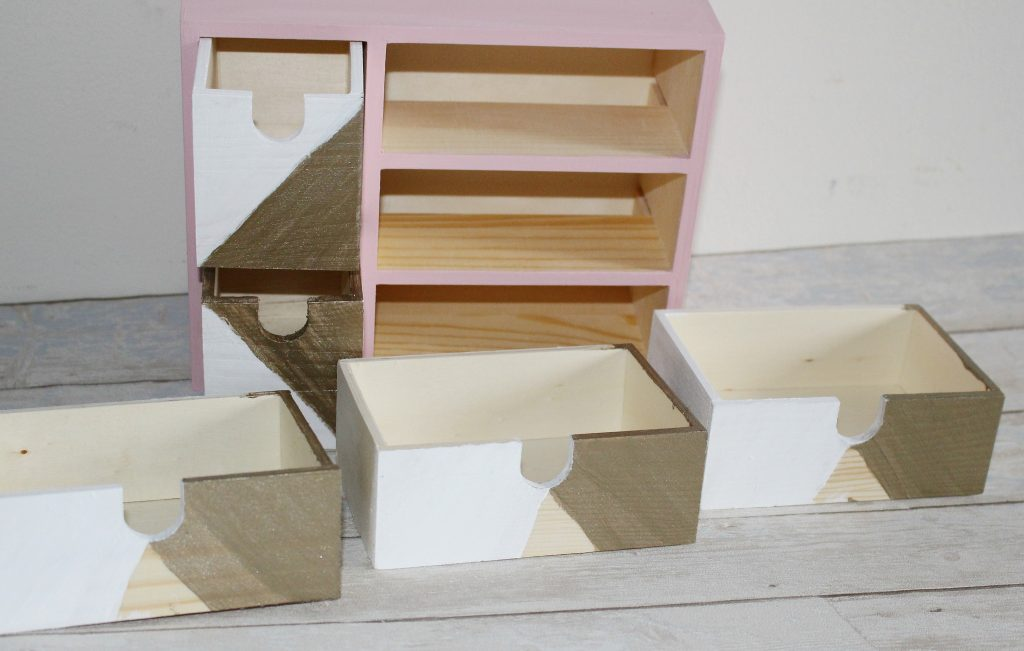 IKEA Moppe Mini Chest Of Drawers Hack Our Crafty Mom #pinterestchallenge #IKEAhack #craftstorage