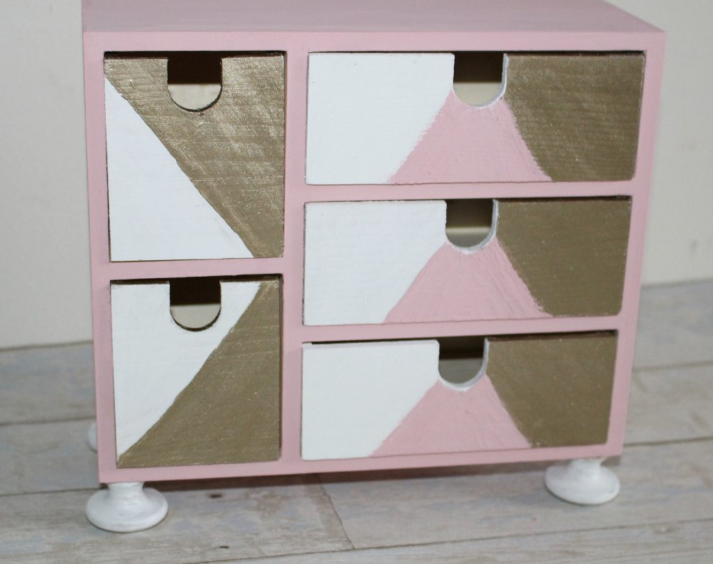 IKEA Moppe Mini Chest Of Drawers Hack Our Crafty Mom #pinterestchallenge #ikeahacks #craftstorage