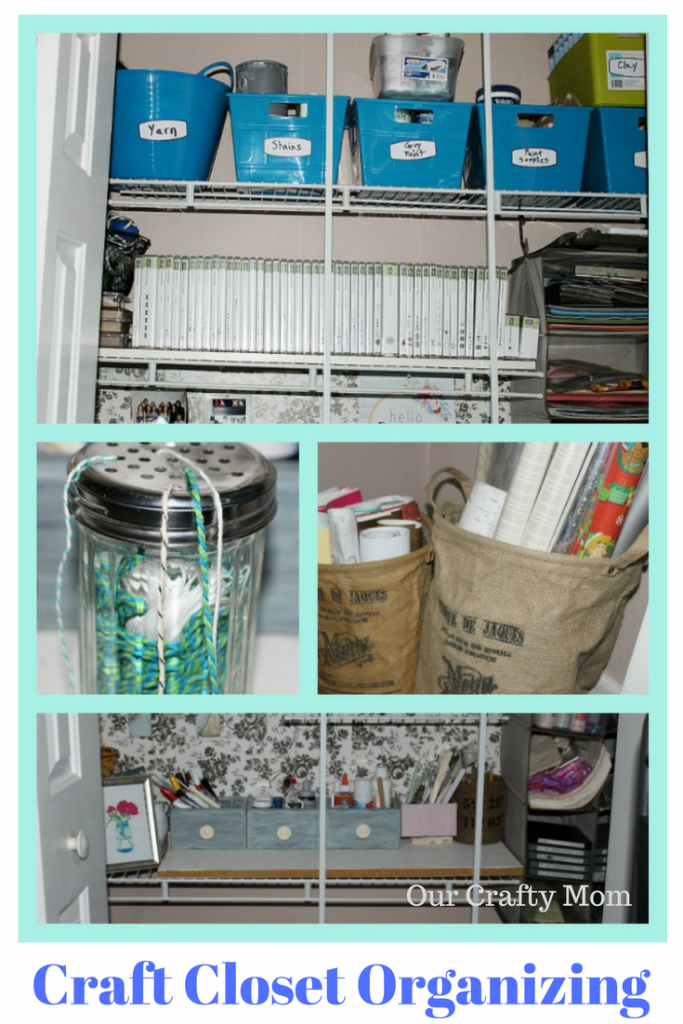 Craft Closet Makeover Week 1 Our Crafty Mom #confessyourmess #craftroomchallenge