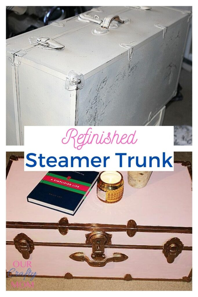 refinished steamer trunk