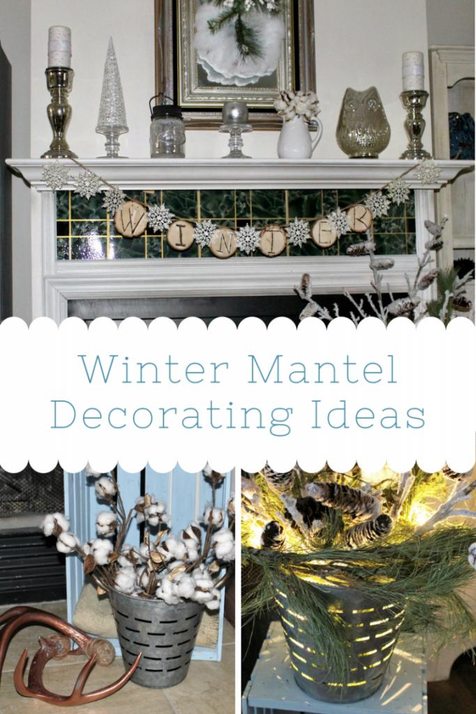winter white mantel ideas our crafty mom