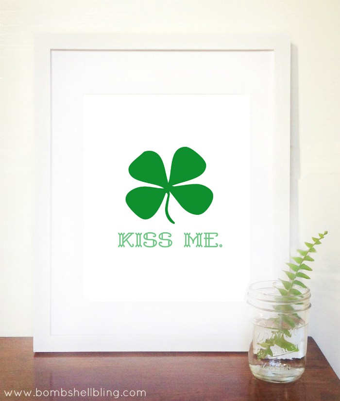 20 Pretty Free Printables For Your Home - Our Crafty Mom #freeprintables #stpatricksday #merrymonday