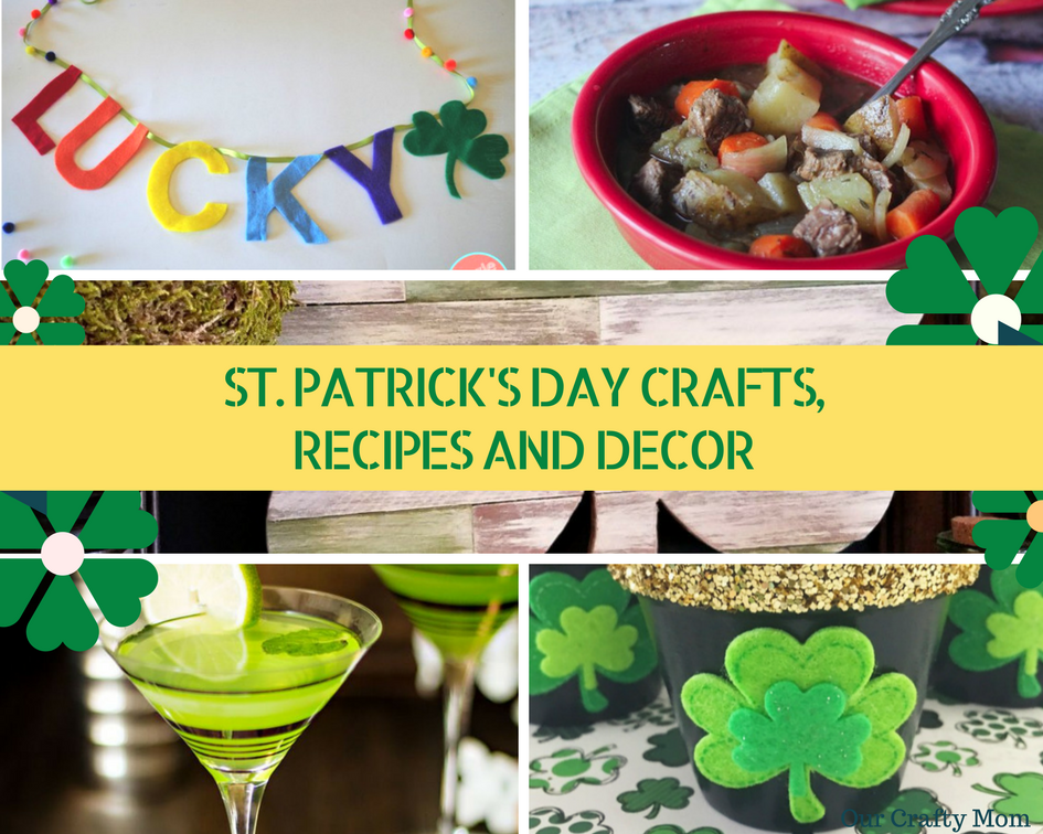 Simple & Fun St. Patrick's Day Crafts, Recipes And Decor | MM #192 Our Crafty Mom #stpatricksday