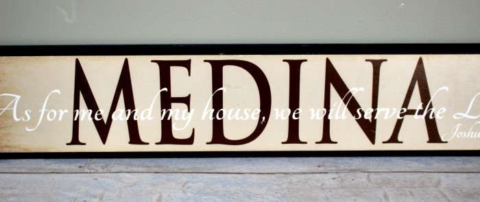 How To Make A Modern Sign From A Thrift Store Find Our Crafty Mom #woodsign #upcycled #thriftstore