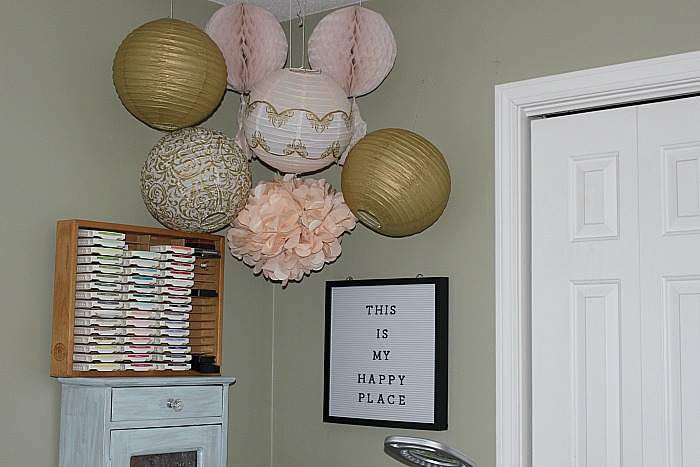My Pretty In Pink And Gold DIY Craft Room Our Crafty Mom #craftroomchallenge