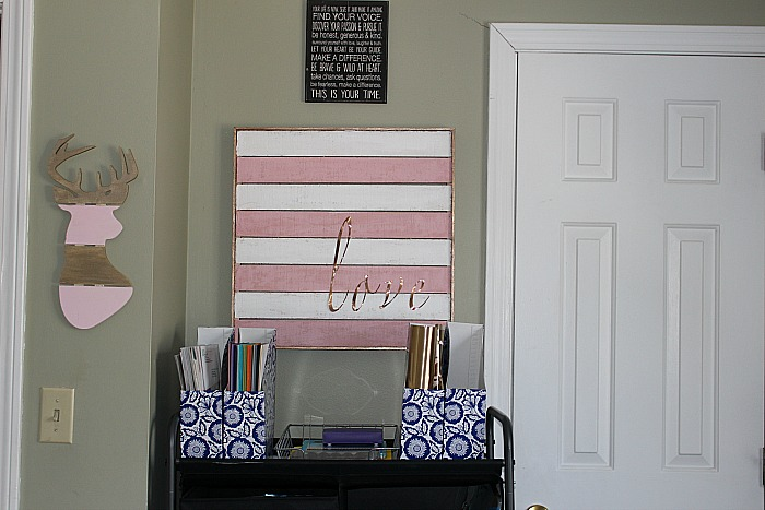 My Pretty In Pink And Gold DIY Craft Room Our Crafty Mom
