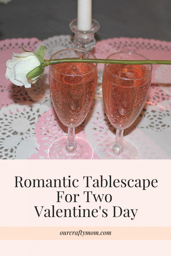 Romantic Tablescape For Two Valentine's Day Our Crafty Mom #valentinesday #tablescape