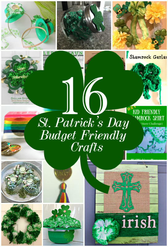 St. Patrick's Day Dollar Tree Blog Hop Our Crafty Mom #dollarstore #stpatricksday