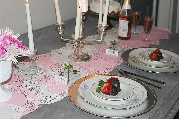 Set A Romantic Tablescape For Two For Valentine's Day Our Crafty Mom #tablescape #valentinesday