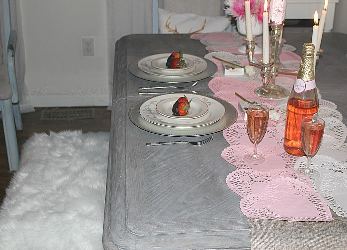 Set A Romantic Tablescape For Two For Valentine's Day Our Crafty Mom #valentinesday