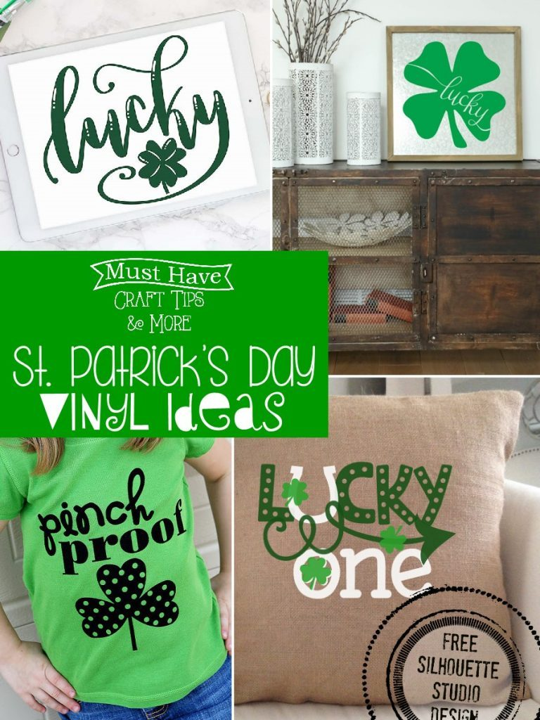 Simple & Fun St. Patrick's Day Crafts, Recipes And Decor MM #192 Our Crafty Mom #vinylcrafts #stpatricksday