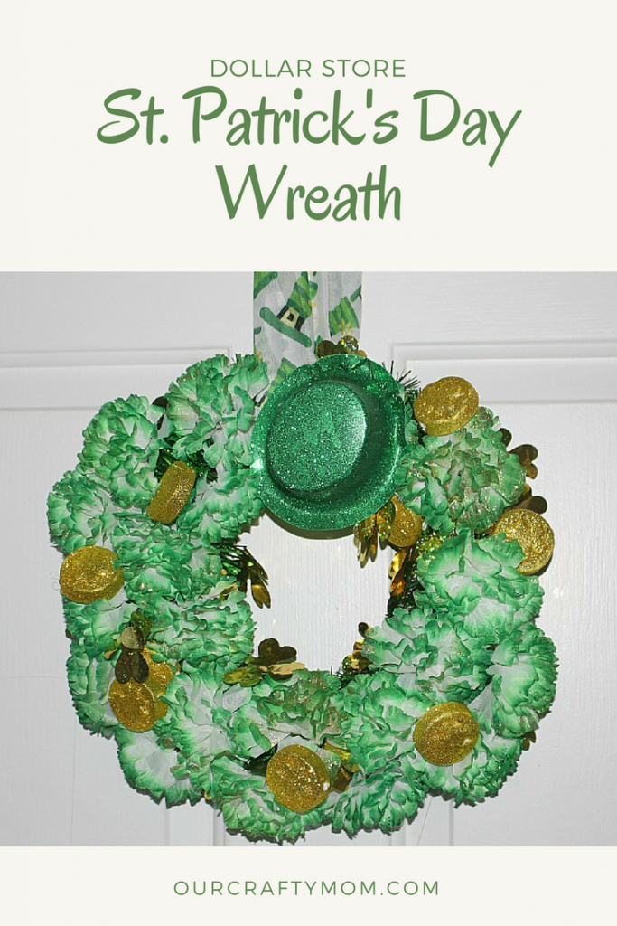 Easily Make A St. Patrick's Day Dollar Store Wreath Our Crafty Mom #dollarstore #stpatricksday