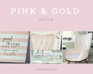 My Pretty In Pink And Gold DIY Craft Room