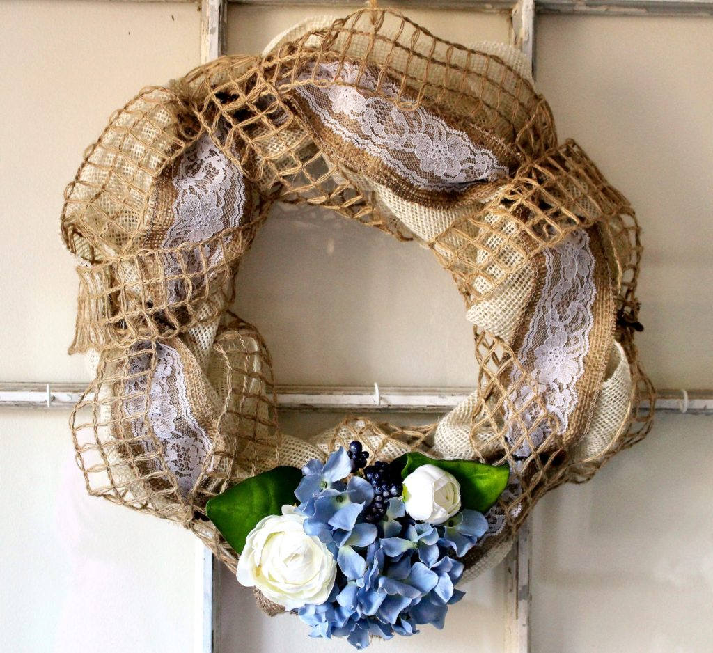 burlap lace wreath our craft mom