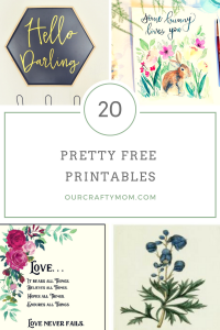20 Pretty Free Printables For Your Home