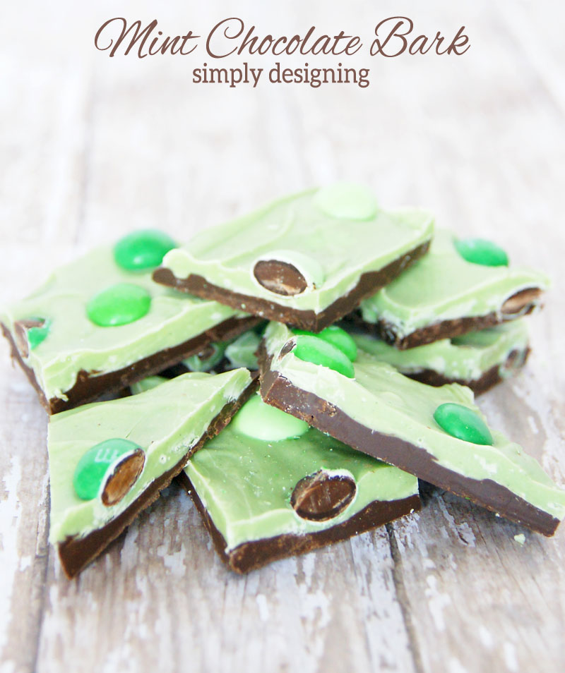 Simple & Fun St. Patrick's Day Crafts, Recipes And Decor MM 192 Our Crafty Mom #stpatricksday #recipes #candybark