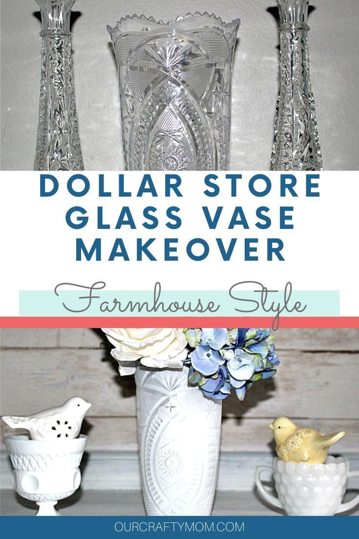dollar store glass vase makeover