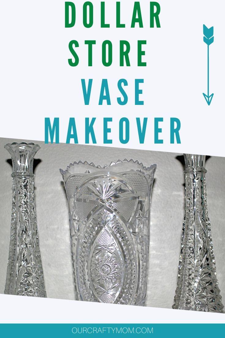 diy dollar store vase makeover