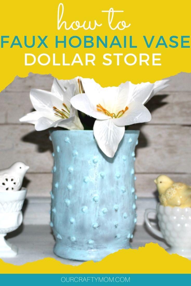 dollar store hobnail milk glass vase